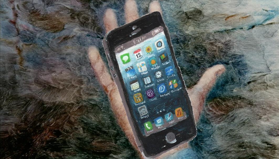 softbank iPhpne5 プレゼン映像カット 2012年「手に持つiPhone5」