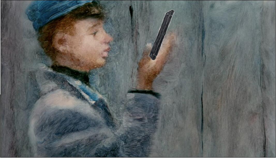 softbank iPhpne5 プレゼン映像カット 2012年「iPhone5を持つ男の子」