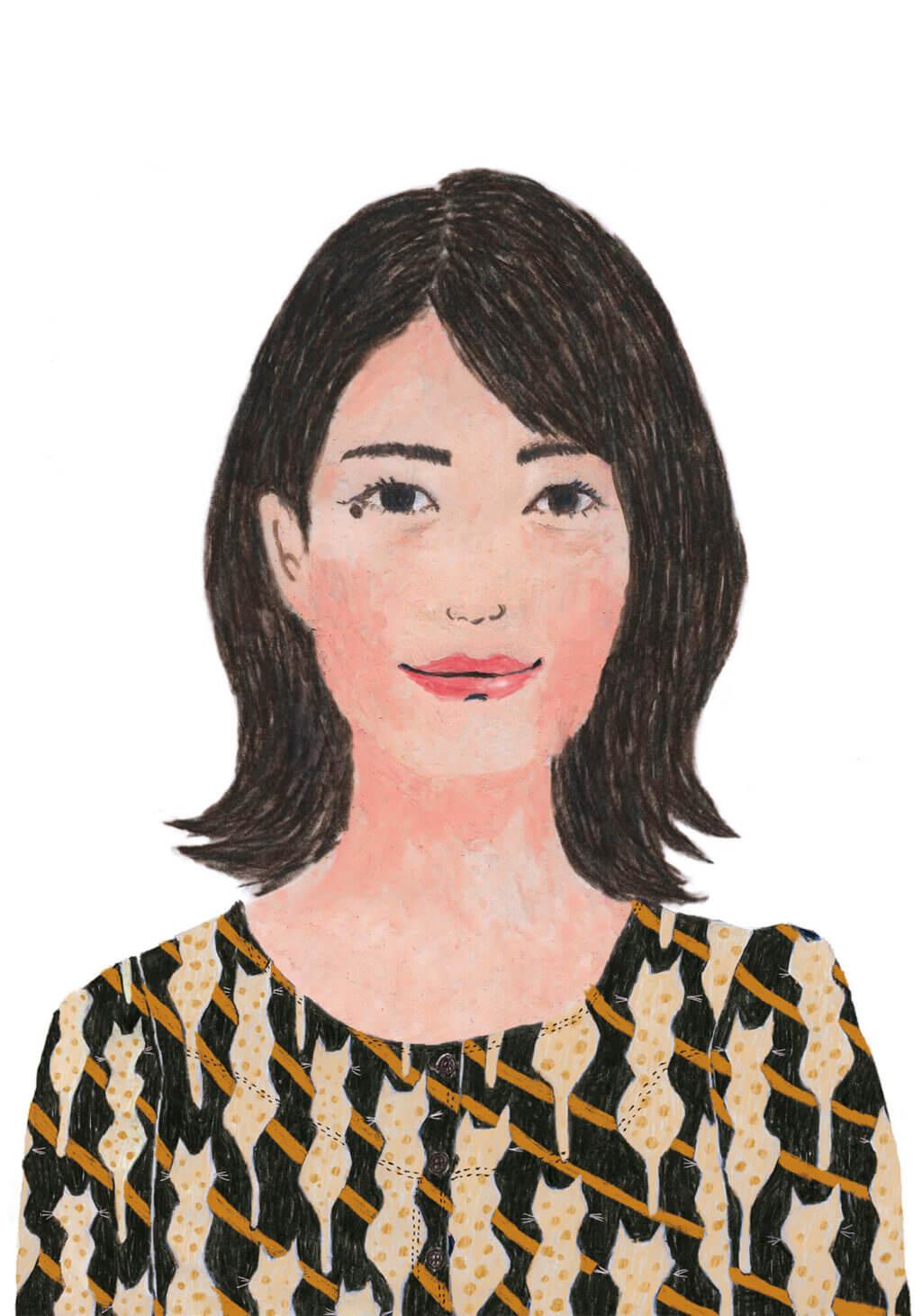 「ねこのきもち」イラストカット ベネッセ 2020年6月号「真辺編集長」