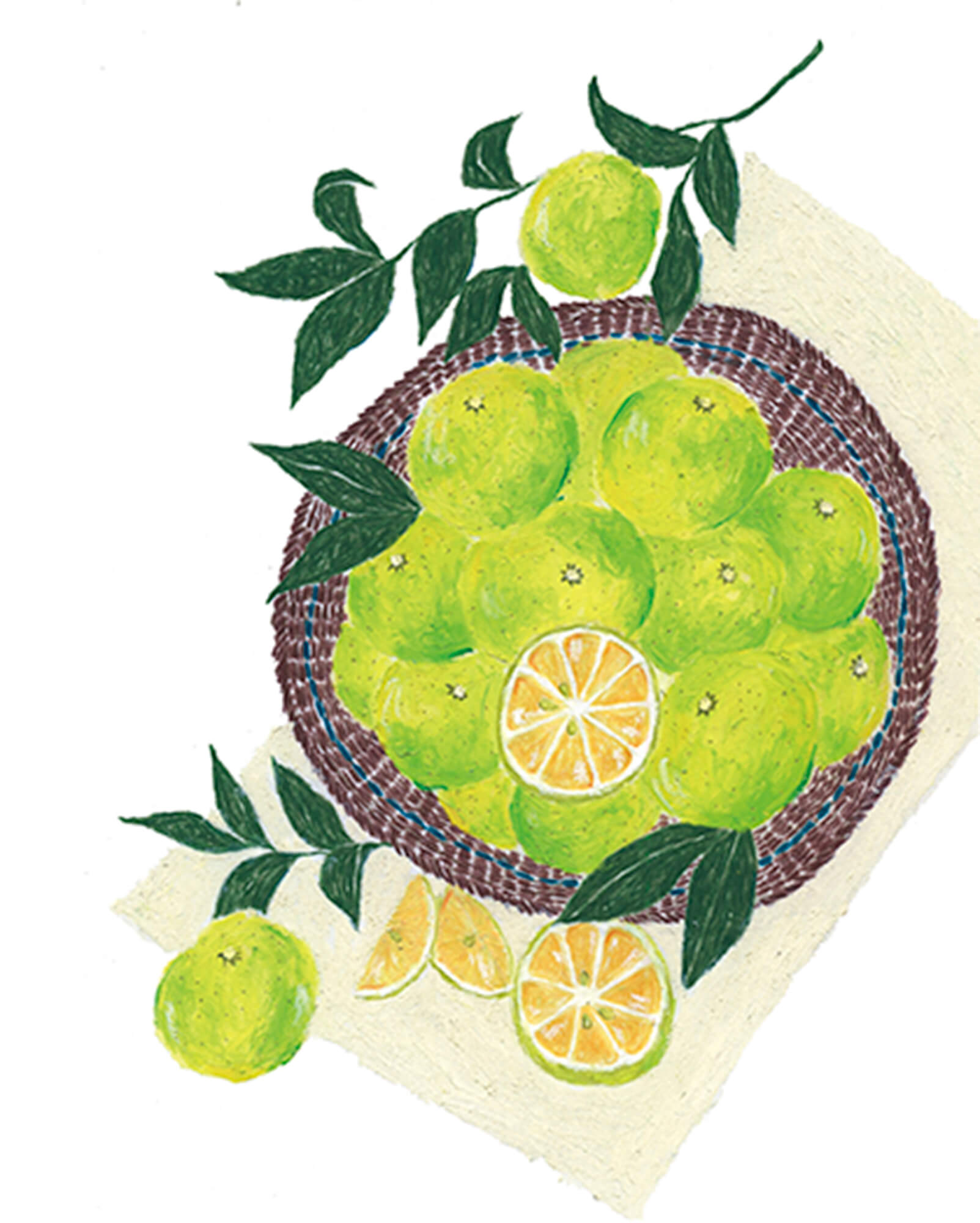 「柚香本」 徳島大学 2019年「カゴいっぱいの香酸柑橘」