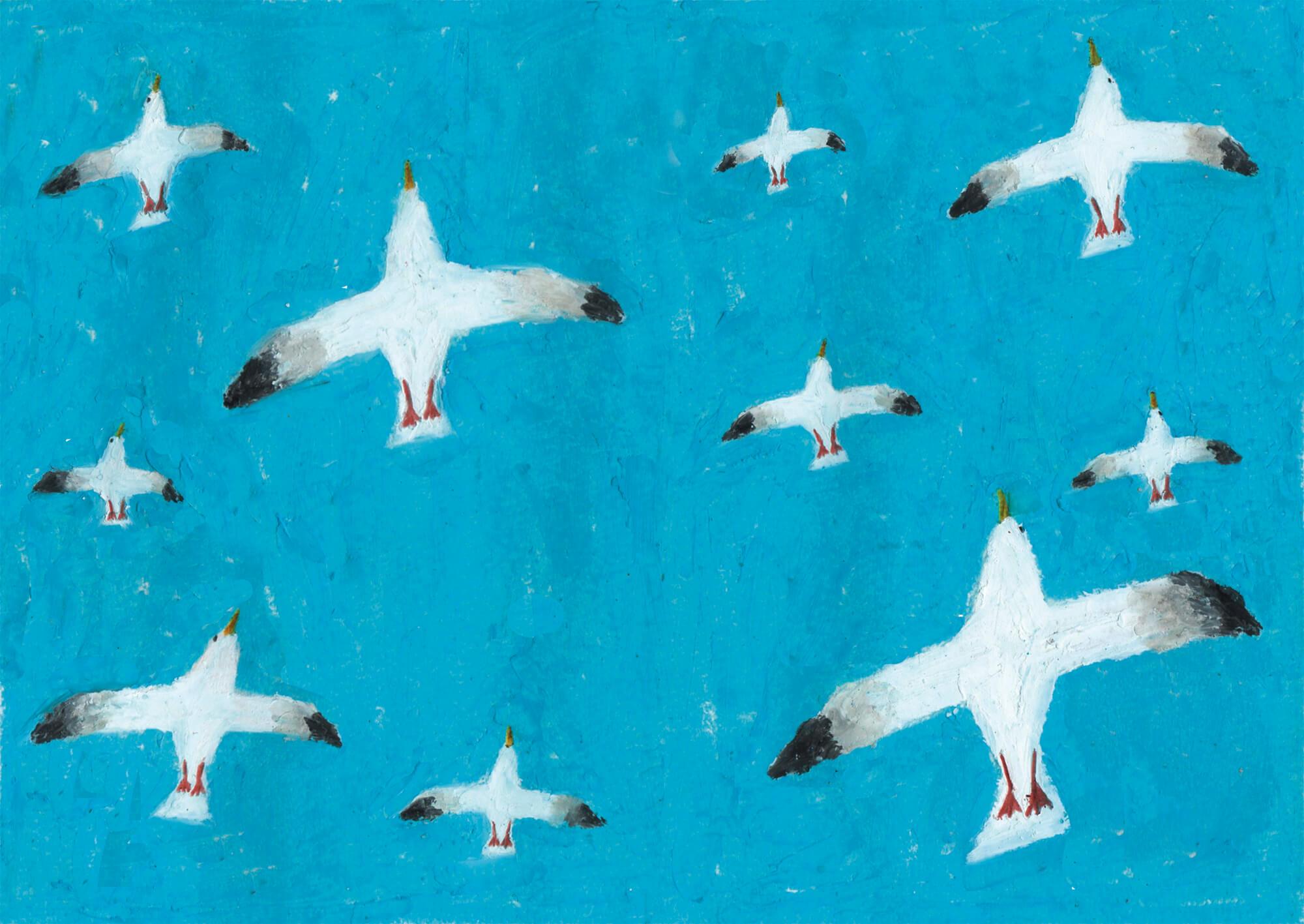誕生日カード「鳥」 翔泳社