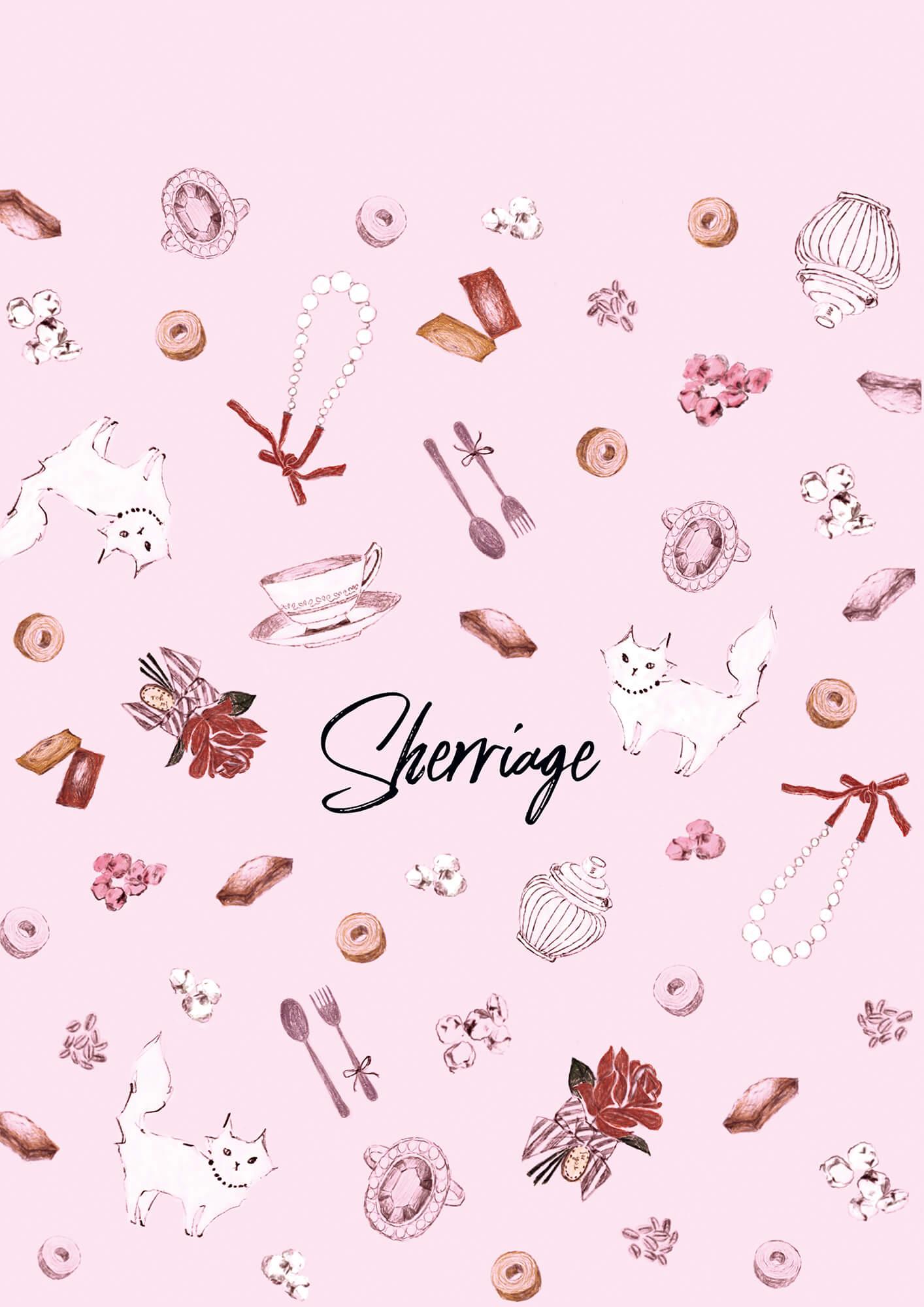 パッケージイラスト 2019年「Sherriage 可愛いピンクのイラストで結婚式の引き出物などに」