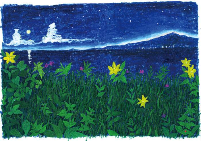 ヤマハ音楽教室楽譜 挿絵2016年「夜の風景」