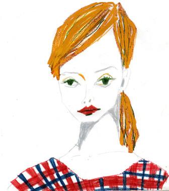チェックの服を着たgirl 20120313