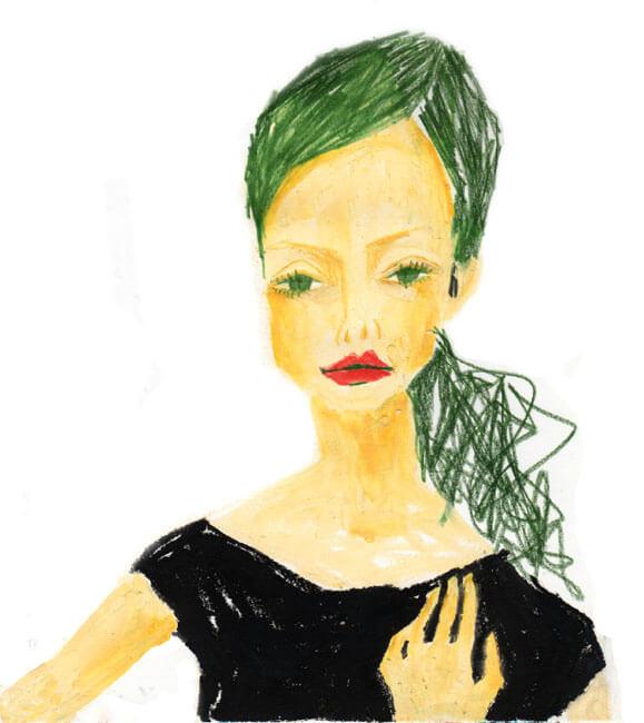 緑髪のクールgirl 20120316