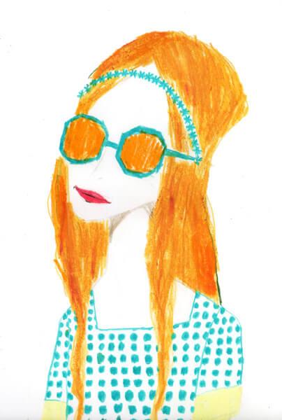 サングラスをかけたgirl 20121015