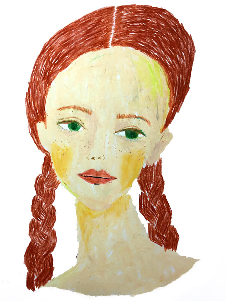 赤髪おさげのgirl 20200108
